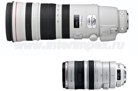 Объектив Canon 200-400 F4 L IS USM Extender 1.4× и Объектив Canon 100-400